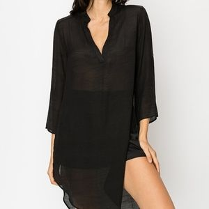 Black Cover-Up Tunic